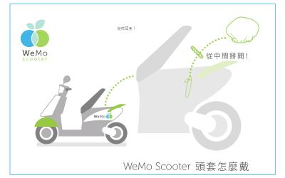 WeMo Scooter頭套怎麼戴