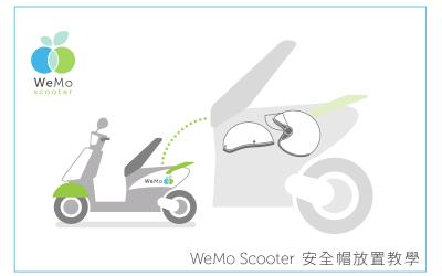 WeMo Scooter安全帽放置教學