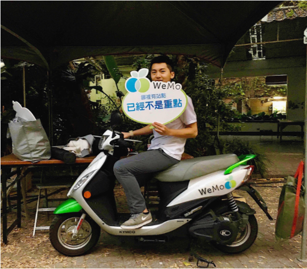 大學生看 WeMo Scooter