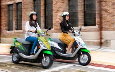 共享機車WeMo Scooter攜手幾米品牌 首創幾米限定環保聯名車集氣送月亮回家 打造北市乾淨星空