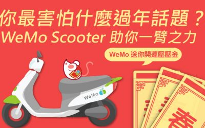 WeMo Scooter 新春開運壓壓金:騎乘金「鼠」不完