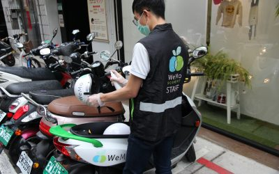 共享機車 WeMo Scooter 防疫不缺席 自主加強營運車輛消毒 響應口罩分發政策 會員發放口罩購買交通騎乘金