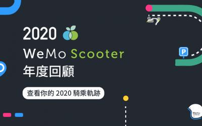 WeMo Scooter 推2020年度回顧 大數據透視個人騎乘軌跡