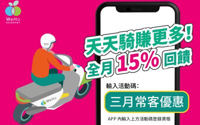【常客計畫】三月整月最高15%,好康活動別錯過!