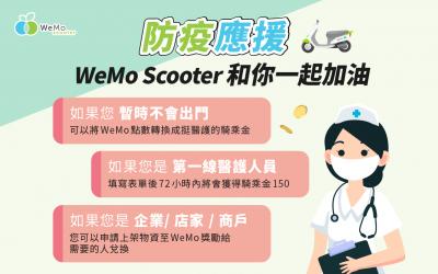 WeMo Scooter 啟動防疫應援專案 提供醫護人員免費騎乘金